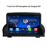7 дюймов Android 7,1 емкостный сенсорный экран автомобиля медиаплеер для peugeot 307 gps навигации Bluetooth видео плеер