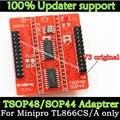 Original Adaptadores SOP44 TSOP48 ZIF adaptador kit apenas para TL866 MiniPro TL866A TL866CS Programador Universal V3 adaptador de Base