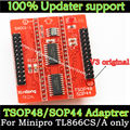 Original Adapters SOP44 TSOP48 ZIF adapter kit only for MiniPro TL866 TL866A TL866CS Universal Programmer V3 Base adapter