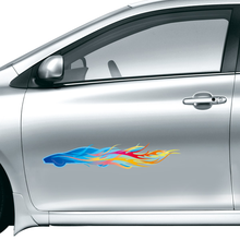 Colorful Car Flames Fashion Car Sticker Waterproof Reflective Decal Vinyl Custom Made Home DIY Car Decoration