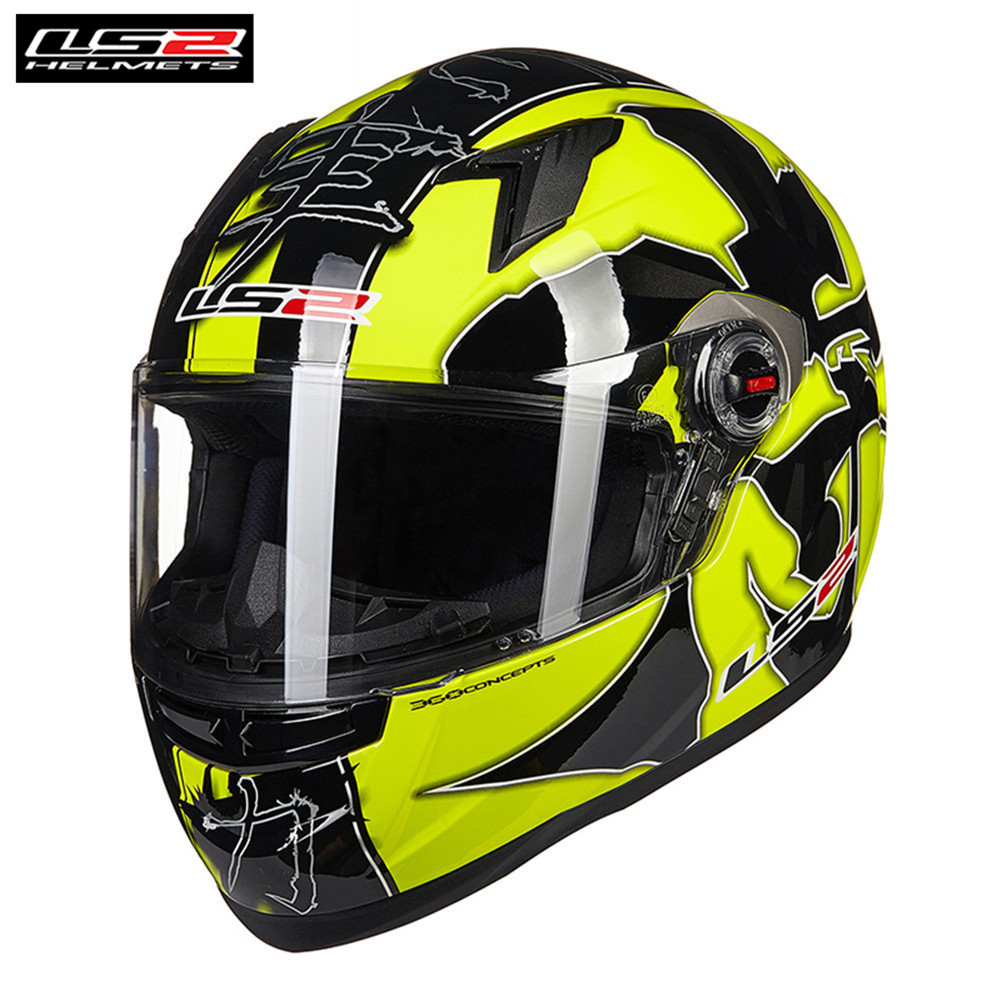 LS2 FF358 Motorcycle Helmet Full Face Motorbike Men Scooter Casque Moto Casco Capacetes de Motociclista original ls2 ff353 full face motorcycle helmet high quality abs moto casque ls2 rapid street racing helmets ece approved