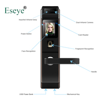 Eseye электронный замок двери лицо цифровой замок отпечатков пальцев интеллектуальные электронные замки Smart замка двери Сенсорный экран Keyless