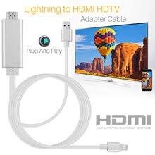 HDMI Kablosu Için Yıldırım HDMI kablosu HDTV TV AV Adaptörü USB kablosu 1080 P Için iPad Hava/iPad mini 2 3 4 iPhone X 8 7 6 S Artı iOS