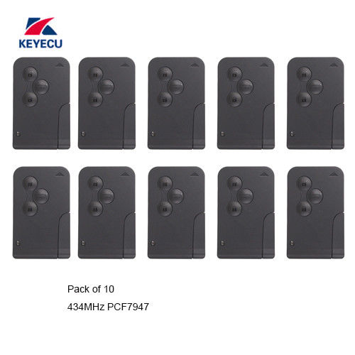 KEYECU Замена дистанционный ключ 3 кнопки 433 МГц ID46 для Renault Megane Scenic 2003 2008 10 шт./лот