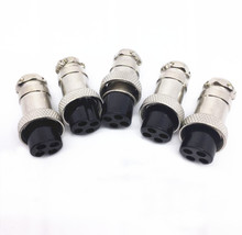 5PCS Aviation Connector 4-core GX16 Hollow Socket Pin Copper