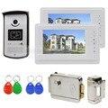 """DIYSECUR 7 """"Проводной Видео-Телефон Двери Системы 1V2 Электрический Замок Контроля Доступа RFID Брелков Unlock"""