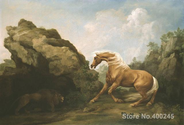 ציורים קלאסיים סוס מבוהל by ג 'ורג' אריה סטאבס רבייה אמנות