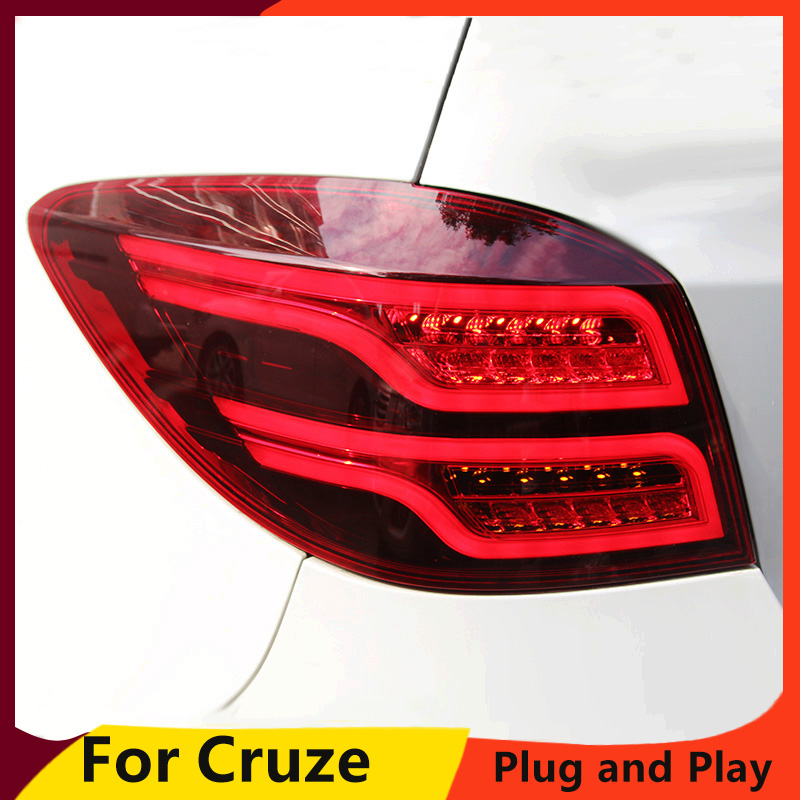 KOWELL Car Styling for Chevrolet Cruze 2009 2014 taillights LED Tail Lamp rear trunk lamp cover