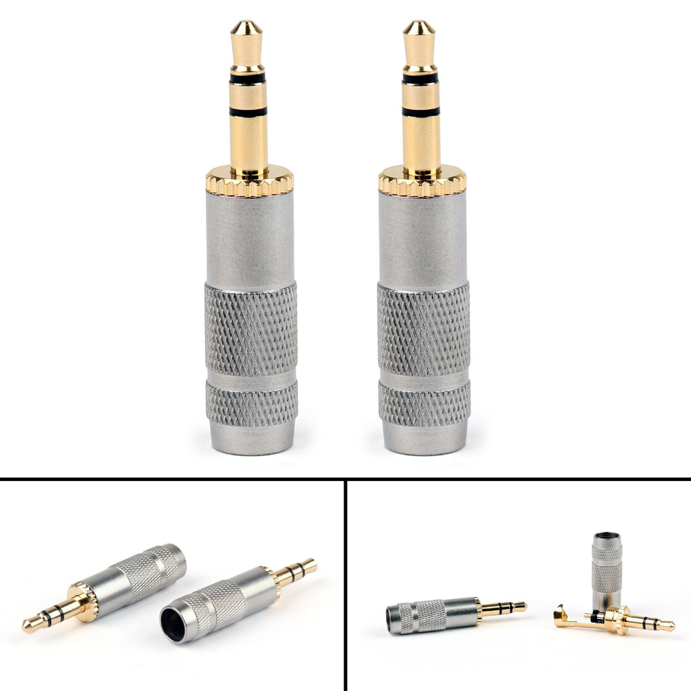 Areyourshop Gold Plated Stereo 3.5mm 3 Pole Repair Headphone Jack Plug Cable Audio Adapte 20PCS High Quality Connector areyourshop copper carbon fiber rca plug jack gold plated audio adapter connector red 1 4pcs high quality rca connector