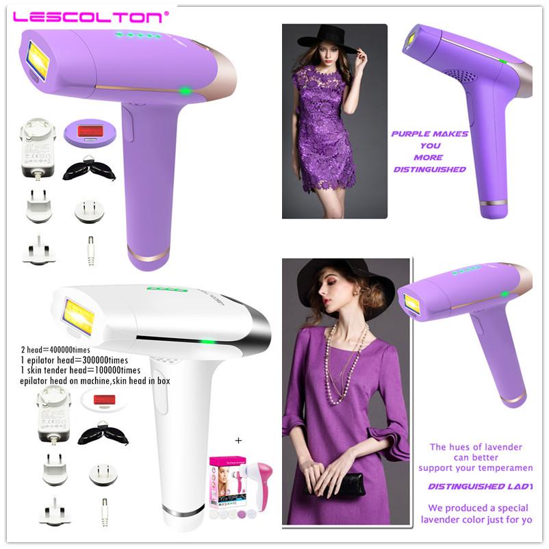 Newest IPL Epilator 2in1 Laser Hair Removal Permanent Device Depilador Facial Hair Remover For body and bikini 400000 times us plug laser hair removal device ipl armpit laser epilator lip bikini face body permanently hair remover beauty instrument