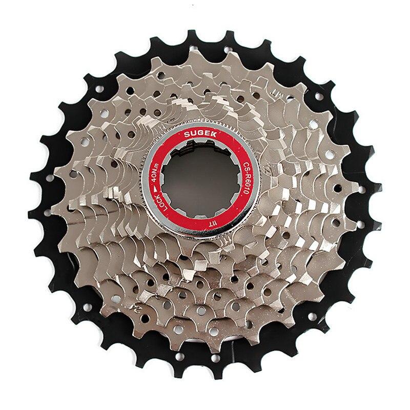 SUGEK 11-28T 10 Speed Wide Ratio Bicycle Freewheel MTB Mountain Road Bike Bicycle Cassette Freewheel Steel Highway Flywheel