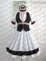 Steins Gate Costumes MayQueen NyanNyan's Best Cat Maid Waitress cosplay costume Uniform Clothes