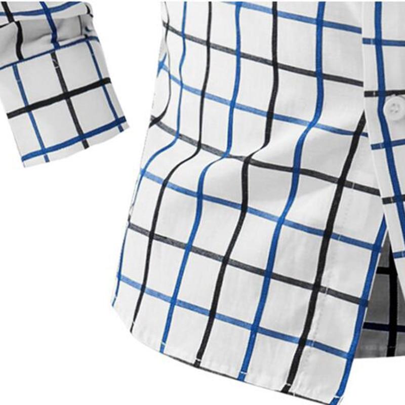 T-Bird 2018 Märke Mans Långärmad Mode Skjortor Casual Man Slim Fit - Herrkläder - Foto 5