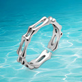 Unisex Solid 925 Sterling Silver Simple Style Ring Adjuster,Index finger and tail to refer ring. Individuality  bone rings