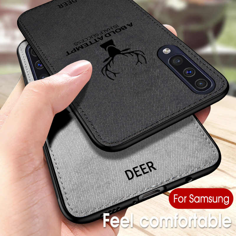 <font><b>Cloth</b></font> <font><b>Case</b></font> For <font><b>Samsung</b></font> Galaxy A50 A30 A10 M50 M30 M10 S10 Plus S10e <font><b>A8S</b></font> A7 A6 <font><b>2018</b></font> S9 J3 J4 J5 J6 J7 Pro Note 9 2019 Coque Funda image