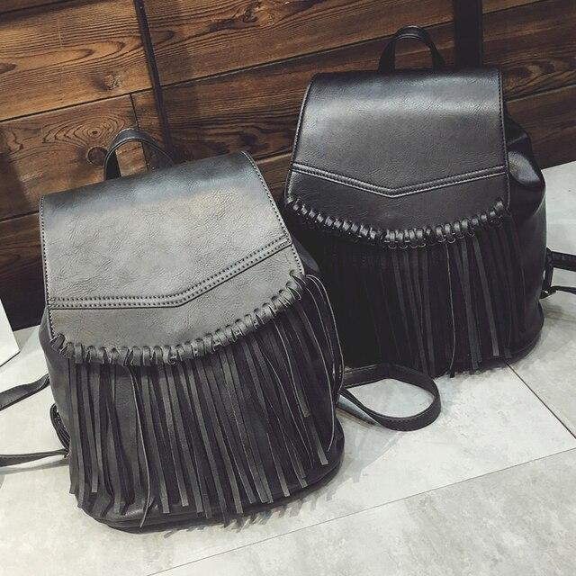 Borlas estilo ocasional do vintage de couro sacos de escola de alta qualidade hotsale mulheres doces embreagem ofertas famoso designer da marca mochila