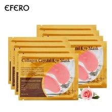 EFERO 8packs = 16pcs קריסטל קולגן מסכה עיניים Pad מעגל כהה Remover ג'ל תיקוני עיניים מסכות לחות נגד נפיחות טיפוח עיניים