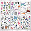 Cute Little Animal Temporary Tattoo Stickers Waterproof Women Fake Hand Animal Tattoos Adult Men Body Art