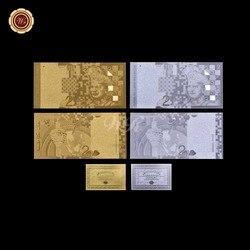 WR домашний декор Золотая банкнота Малайзия 2 Ringgit Ppaer деньги Металл золото и серебро покрытием Малайзия копия денег с сертификацией