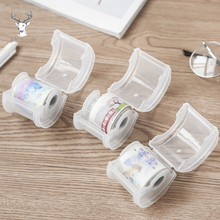 1PC Japanese Stationery Masking Tape Cutter Washi Tape Storage Box Desk Organizer Office Tape Dispenser Office Tape Dispenser
