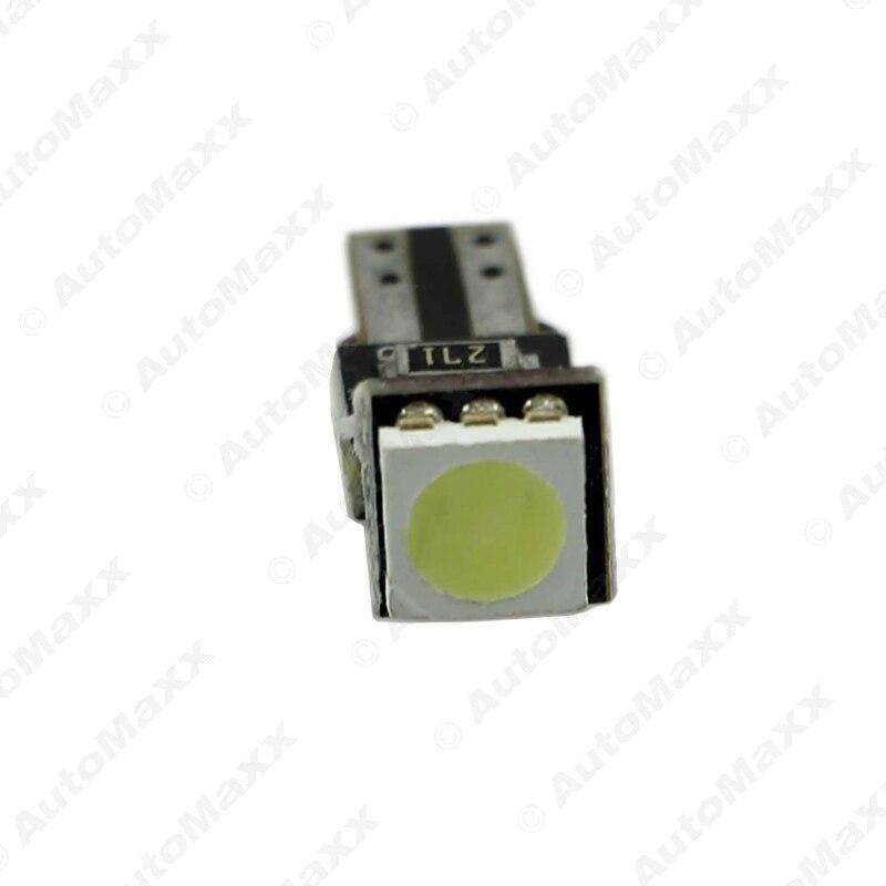 Feeldo 2 шт. 12 В белый T5 CANBUS ОШИБОК 5050 1SMD 1LED автомобиля боковой Клин светодиодные лампы # AM1819