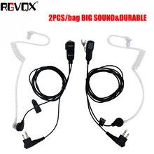 RLGVQDX 2 Pin Mic auricular de walkie talkie auriculares para Motorola Compatible con dispositivos de Radio 2 uds