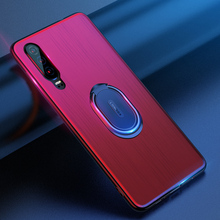 купить Shockproof Holder Stand Protective Phone Case For Huawei P30 Magnetic Stand Soft TPU Cover For Huawei P30 Pro Case Coque Bag дешево