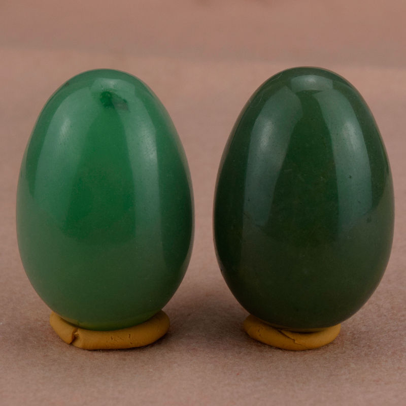 Jade Eggs 45x30mm Green Aventurine undrilled Yoni Egg for Kegel Exercise Crystal Healing Reiki Massager & Relaxation(2PCS) 45 30mm natural unakite yoni egg massager sphere for woman crystal healing chakra reiki kegel exercise egg