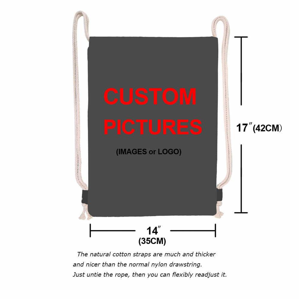 Jackherelook señoras mujeres Mini mochila escolar negro África niñas arte diseño portátil cordón bolsas mujer playa hombro saco
