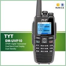 Marka Yeni 100% Orijinal 5 W Dual Band Walkie Talkie DPMR Telsiz Mobil Radyo TYT DM-UVF10