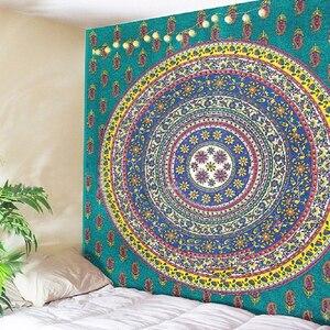 Image 5 - Tapiz de medallón Floral para decoración de hogar, cabecero indio dorado, para colgar en la pared, tapiz de Mandala, decoración colgante de pared de macramé Celestial