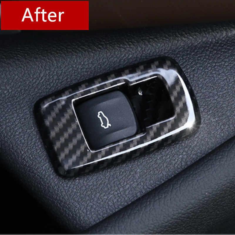 คาร์บอนไฟเบอร์รถประตูสวิทช์กรอบตกแต่งสำหรับ BMW 5 Series G30 G38 2018 AUTO ตกแต่งภายใน