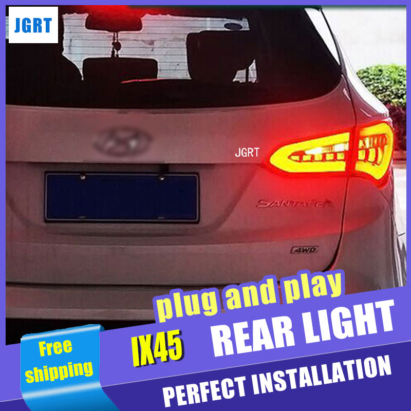Car Styling LED Tail Lamp for Hyundai IX45 Taillight assembly New Santa Fe Rearlight DRL+Turn Signal Reverse with hid kit 2pcs.