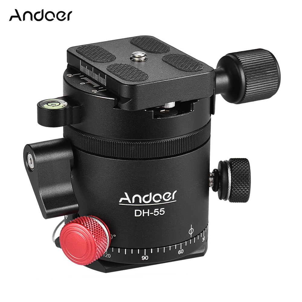 Andoer DH 55 Indexing Rotator HDR Panorama Panoramic Ball Head with 1 4 Quick Release Plate