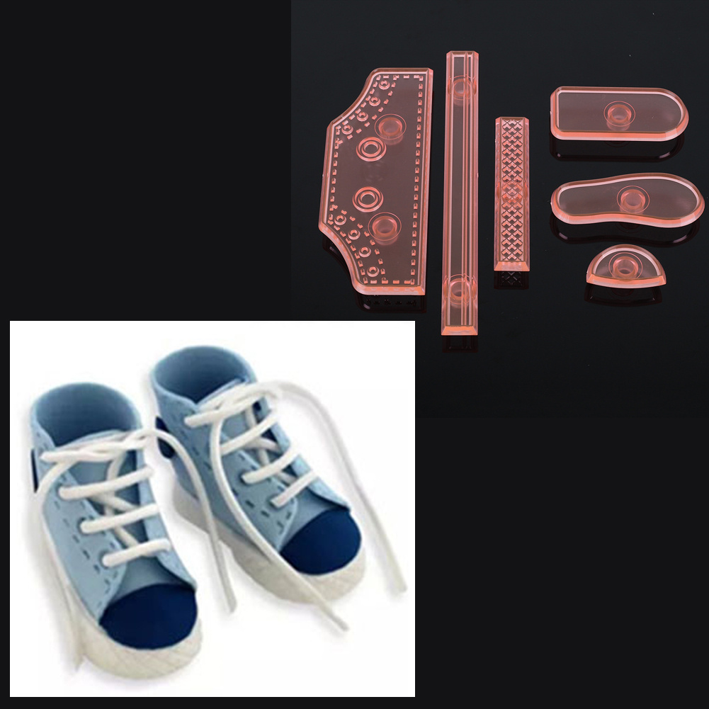 Cake Molds,Baby High Cut Sneaker Shoe Fondant Cake Mold Tools
