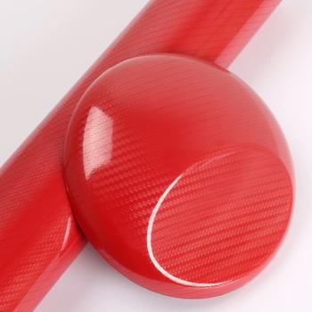 TSAUTOP 1.52x20m air free bubbles high gloss 5d carbon fiber vinyl car sticker Red