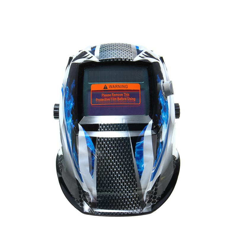 Bule Flame Solar Auto Darkening Welders Welding Helmet Mask+Grinding Mode Automatic Welder Filter Lens fire flames auto darkening solar powered welder stepless adjust mask skull lens for welding helmet tools machine free shipping