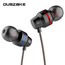 DUSZAKE dans loreille téléphone écouteurs casque avec Microphone pour Xiaomi téléphone écouteurs casque filaire écouteur pour téléphone Sport