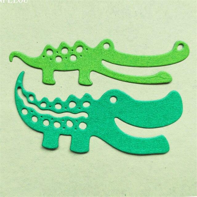 Panfelou christmas two crocodile scrapbooking diy album cards paper die metal craft stencils punch cuts dies