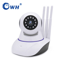 CWH 720P HD WiFi IP Camera Wireless Security Camera With Three Antenna Audio SD Card Recording