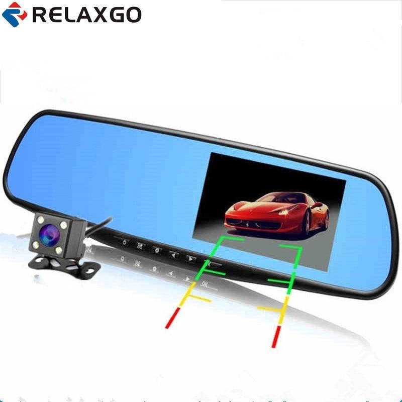 Relaxgo 4 3 Full HD 1080P font b Car b font Mirror font b DVR b