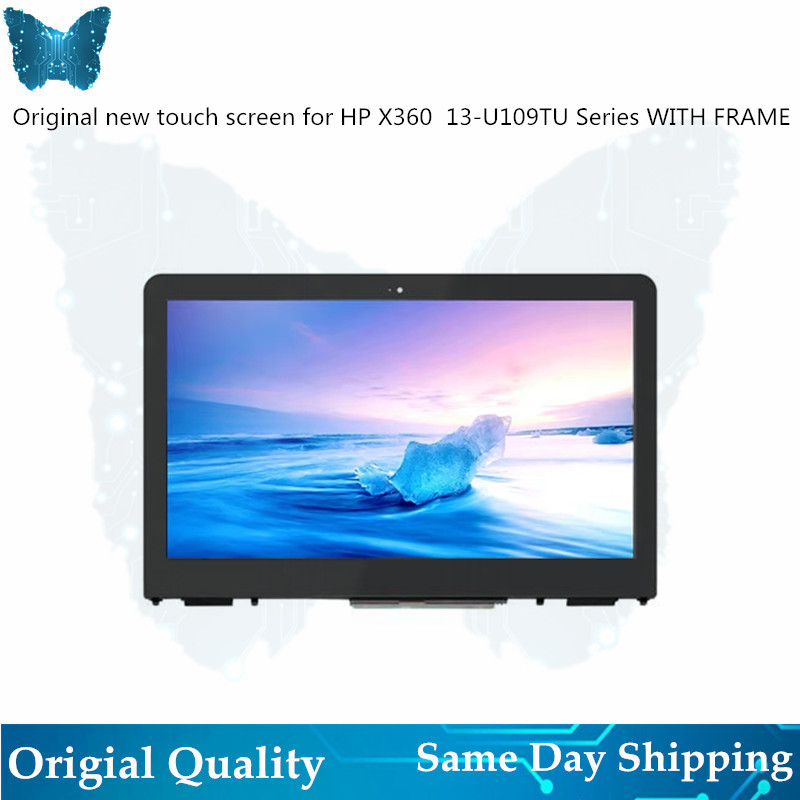 GIAUSA 13.3'' FHD LCD Screen for HP X360 13 U Touch Digitizer Assembly 13 U119TU with Frame 1980*1080