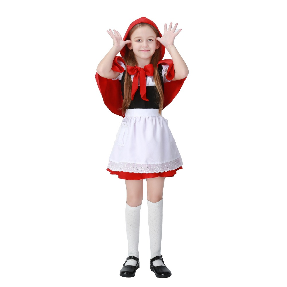 New Child Girl Little Red Riding Hood Cosplay Disfraces Halloween Costume COS Fantasy Kids Exotic Clothes Hot Sale 1266H177485