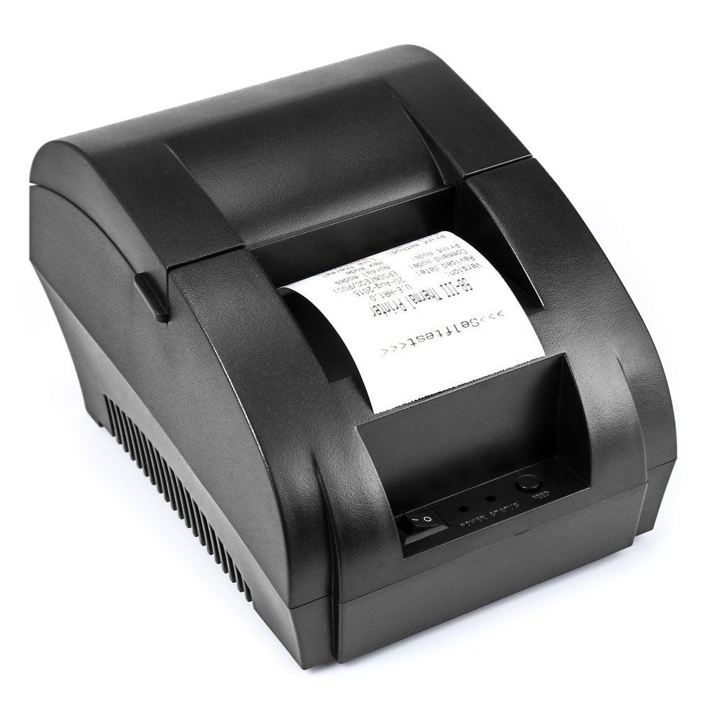 ZJ 5890 K 58mm POS Thermal Receipt Bill Printer Universal Ticket Printer Support