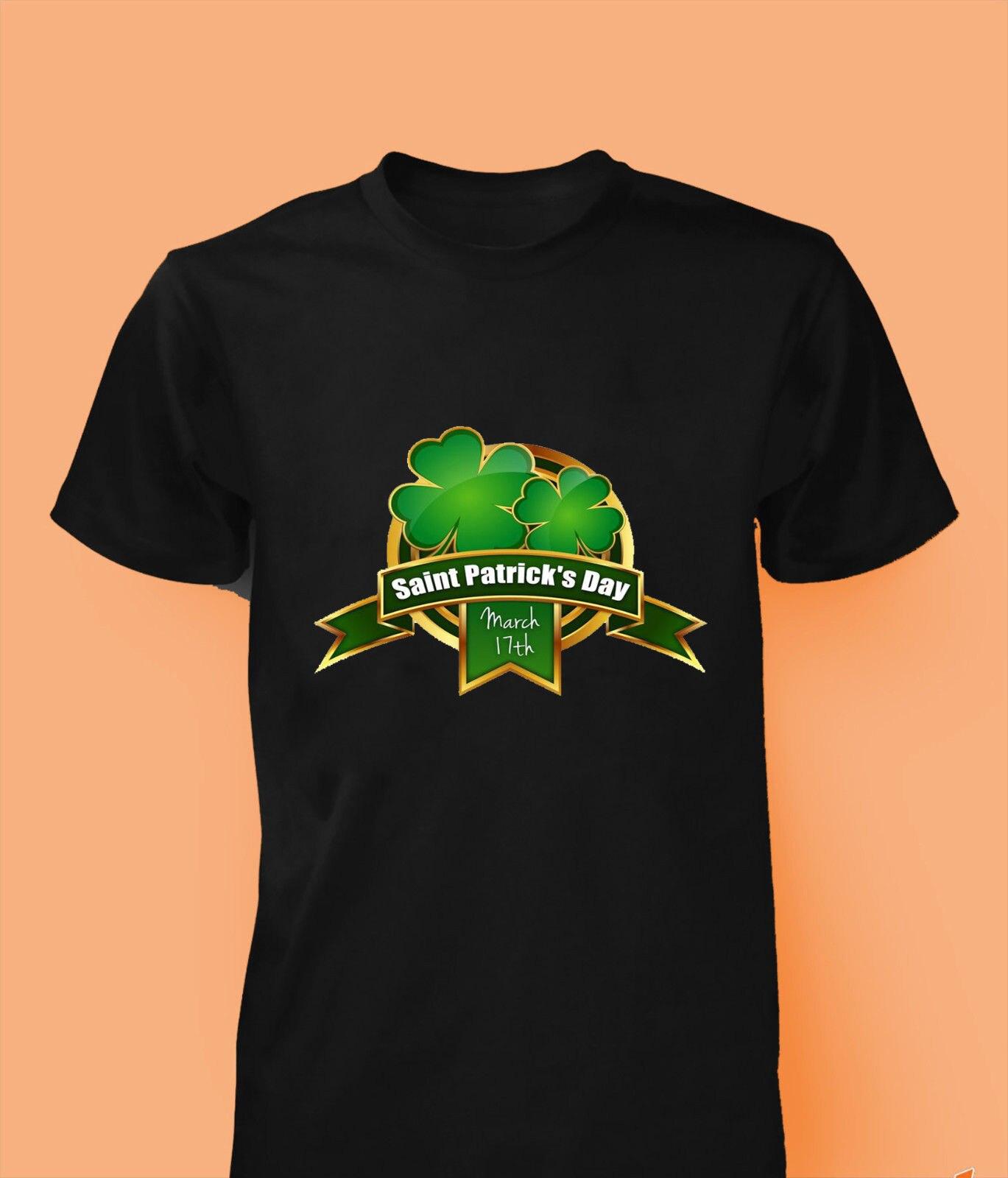 0768a94f St Patricks Day T Shirt Ireland FLAG Shamrock Paddys Day Men Women kids New T  Shirts