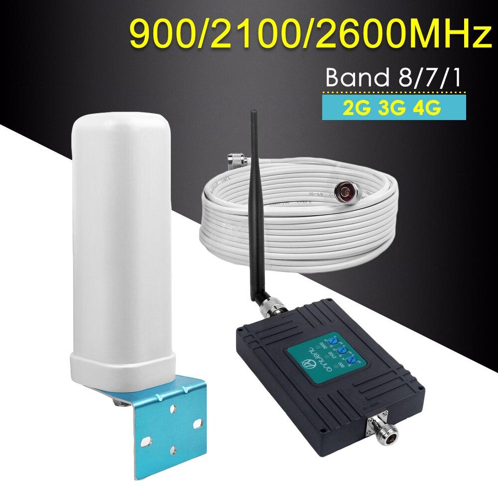 Amplificateur de Signal cellulaire Tri-bande Europe LTE 2600 GSM 900 WCDMA 2100 2G 3G 4G GSM répéteur amplificateur de téléphone portable 4G LTE