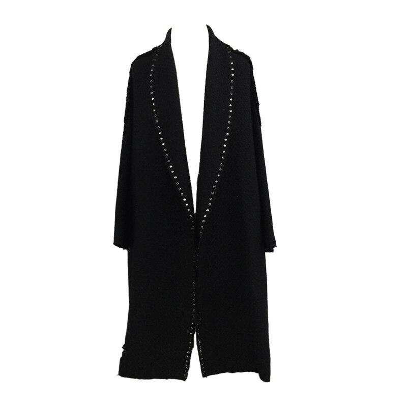 Laine Warm Designer Simple Survêtement Abrigos Paded hiver Mujer Lining Maxi Femelle Surdimensionné Manteau Femmes Femme Automne 2018 Piste Long Tweed C0qnxUxgw
