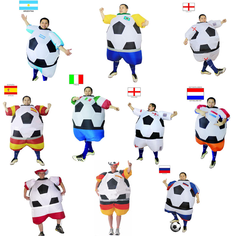 Italian Foot ball Inflatable Costumes Italy Soccer ball Costume Argentina France Netherlands Soccer Halloween Costume For adults