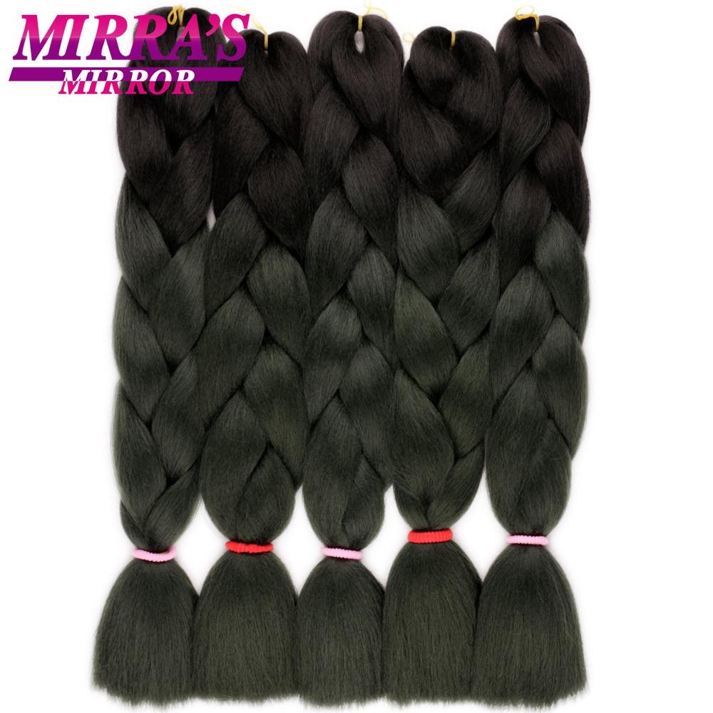 Mirra's Mirror зеркало Омбре плетение волос для наращивания пучки кос-жгутов синтетические крючком волосы для косичек красный синий зеленый два/т...
