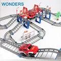 Crianças grandes brinquedos Thomas trilho elétrico crianças carro de trilho de trem modelo de brinquedo do bebê carro de corrida órbita duplo slot de aniversário do carro presente